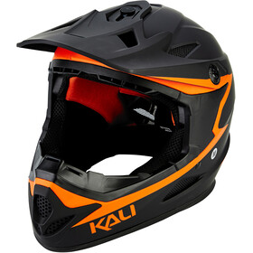 Kali Zoka Helm Herren matt schwarz/orange